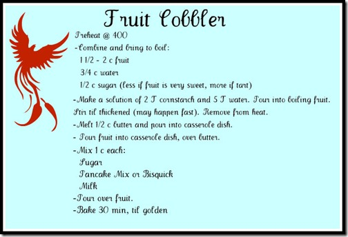 cobbler recipe